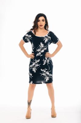"""Платье """"Восточный стиль"""" с отделочной бейкой и завязками на плечах"""