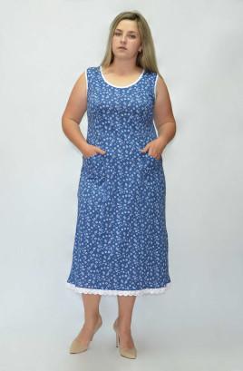 Платье с шитьём по низу