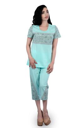 """Пижама """"Зефир"""" с цветными вставками"""