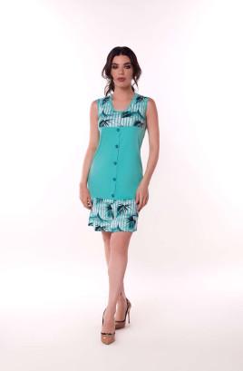 """Платье х/б """"Анжелика"""" с отделочной планкой по переду"""
