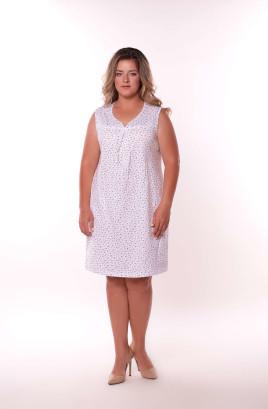 Сорочка без рукавов с фигурной горловиной