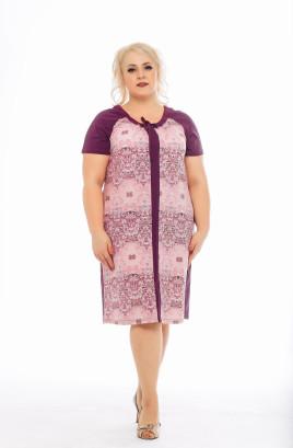"""Платье """"Орнамент"""" с рукавами реглан и кулиской по горловине"""