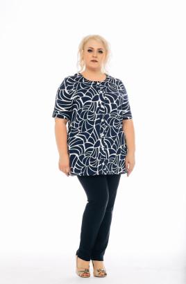 """Рубашка """"Новая волна"""" с планкой и манжетами на пуговицах"""
