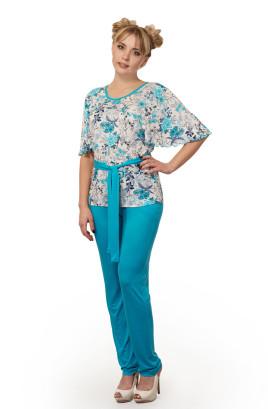"""Костюм """"Цветочная долина"""", блуза со свободным рукавом"""