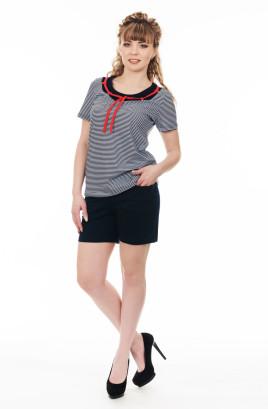 """Костюм """"Морской бриз"""" с шортами и декоративным шнурком по футболке"""