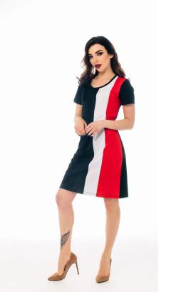 """Платье """"Тет-а-тет"""" с вертикальными отделочными полосами"""
