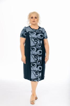 """Платье """"Валенсия"""" с однотонными бочками"""
