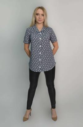 Рубашка на пуговицах с коротким рукавом