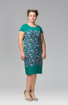 """Платье """"Веста"""" вискоза, отделочная кокетка и низ платья"""